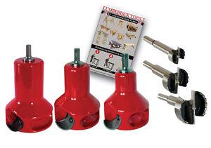 Log Furniture Master Kit Home Series 3 tenon cutter sizes! Lumberjack Tools HSK3