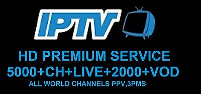 12 Months IPTV Subscription Warranty (UK Ch + VOD) MAG, Android, SmartTV, M3U