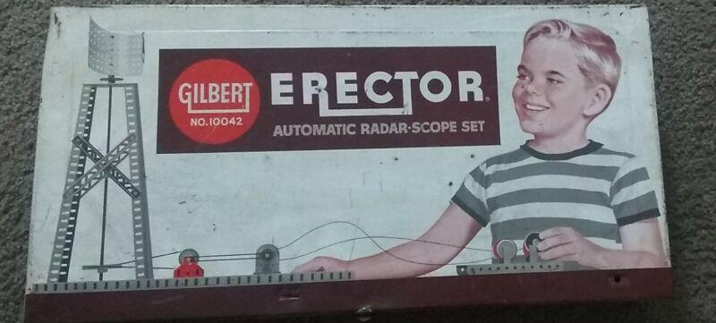 "Gilbert Erector Set No. 10042 ""Automatic Radar Scope Set"" Metal Case Only"