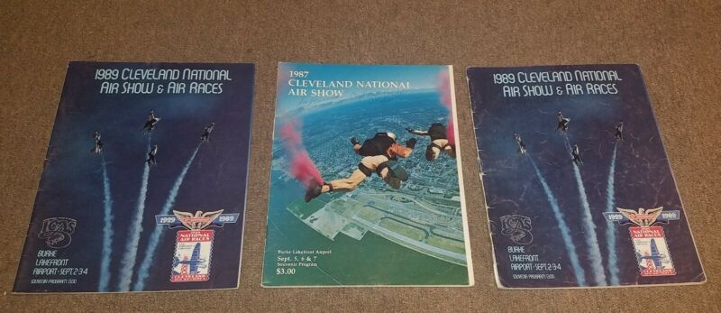 1987 1989 Cleveland National Air Show Autographed Programs Thunderbirds Knights