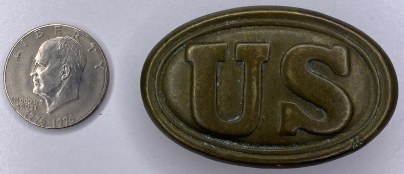 Solid Brass US Civil War Infantry Soldiers U.S. Union Army Belt Buckle Repro