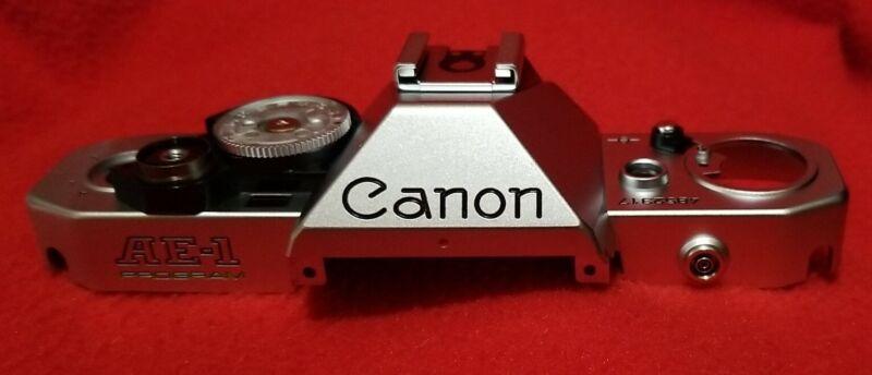 Canon AE-1 program top cover replacement Genuine Canon NEW Chrome
