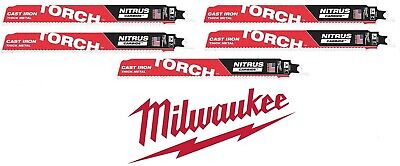 5 New Milwaukee Nitrus Carbide The Torch 9 - 7tpi 48-00-5362 For Thick Metals