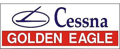 A092 Cessna Golden Eagle Airplane banner hangar garage decor Aircraft signs