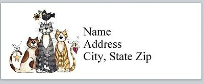 Personalized Address Labels 3 Cats Primitive Country Buy 3 Get 1 Free P 627