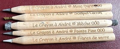 """5 Pencil Set > """"Le Crayon a Andre"""" > Amazing US Coin Cleaning tool!!!"""