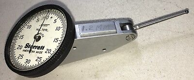 Starrett 709l Dial Test Indicator .0005 Grads 0-30-0 Dial114 Carbide Contact