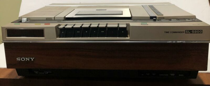 Vintage Sony Time Commander SL-5800 Betamax VCR with Remote