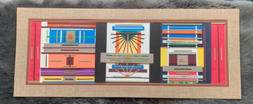 Fun Colorful Unique Collage Contemporary Mixed Media Wall Hanging Modern Art