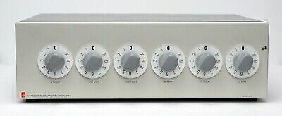 General Radio Genrad Iet Labs 1413 Decade Capacitor 6-dial 1pf-1.11111f