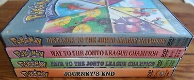 Pokemon Distance Way Path to the Johto League Champions Journey's End 4 DVD Set