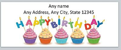 Personalized Address Labels Happy Birthday Cupcakes Buy 3 Get 1 Free Bo 880