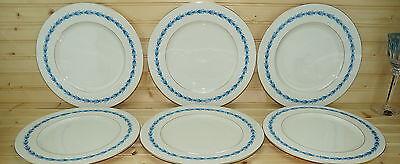 "Castleton Classic Blue (6) Dinner Plates 10 3/4"""