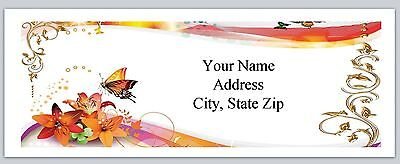 30 Personalized Address Labels Flowers Butterfly Buy 3 Get 1 Free Ac 940