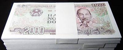 Vietnam 2000 Dong Banknote papermoney Full Bundle 100PCS 1988P107  UNC  Lot Pack