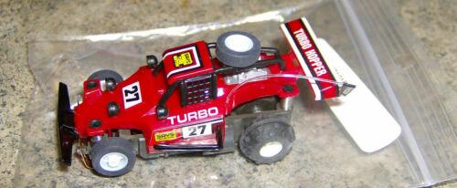 """""""NEW"""" OLD STOCK TYCO #27 MAROON TURBO HOPPER 440X2 HO SLOT CAR"""
