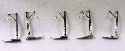 Märklin Spur Z 8911 5 x Oberleitungsmast mit Sockel (PH 667)