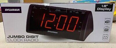 "Sylvania Dual Alarm Clock Radio 1.8"" Jumbo Digits"