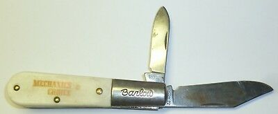 VTG USA COLONIAL BARLOW 2 BLADE POCKET KNIFE MECHANICS (Barlow 2 Blade)