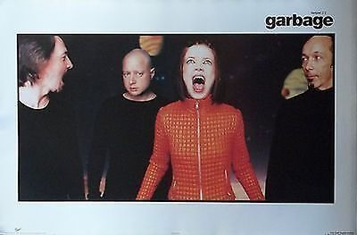 MUSIC POSTER~Garbage Shirley Manson Version 2.0 1998 Group Band Duke Erikson NEW