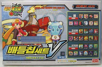 TAKARA ROCKMAN EXE AXESS (MegaMan) Battle Chip Set V (OS-02,OS-09,OS-11) for PET