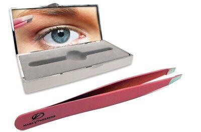 - Slant Tip Brow Tweezers -Assorted Colors-  by Mark V - Swiss + Bonus Compact