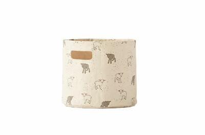 Petit Pehr Nursery Storage - 100% Heavyweight Cotton - Mini - Baby Lambs 8x7ins