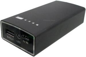 PORTABLE RECHARGEABLE POWER BANK - 4400MAH - RAPID CHARGE YOUR PHONE ON THE GO!!