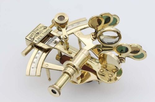 "Maritime Brass 4""Sextant WHITE STAR LINE R.M.S.TITANIC- Navigation Nautical Tool"