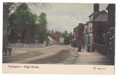 ORPINGTON High Street, Old Postcard by BD, Unused