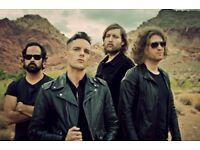 The Killers Genting Arena Birmingham Tuesday 14th November 4 X Standing