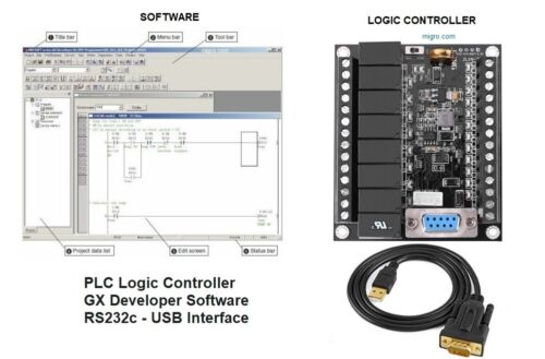PLC Professional Training Starter Kit Ladder Logic Software w Controller Board