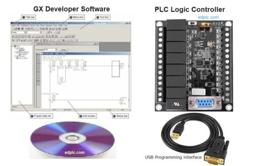 PLC Professional Training Starter Kit Ladder Logic w Programming Software USB US