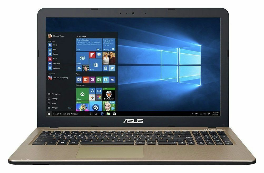 Laptop Windows - Asus X540 15.6 Inch Intel Celeron N3350 2.4GHz 4GB 1TB Windows 10 Laptop - Black