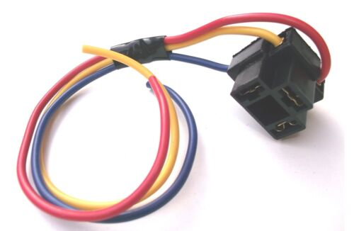 Replacement H4 Single Bulb Holder With leads For H4 Headlamp 3 Pin Type (BCH4)