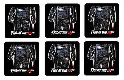"FRIDAY THE 13TH COASTERS 1/4"" BAR & BEER SET OF 6"