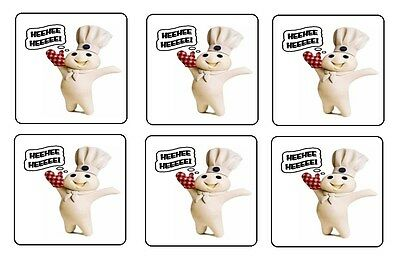PILLSBURY DOUGHBOY COASTERS 1/4 BAR & BEER SET OF 6