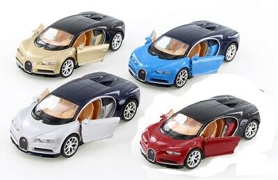 WELLY Collectible Bugatti Chiron Diecast car Model 4.5 inch RED/SILVER/GOLD/BLUE Gold Diecast Collectibles