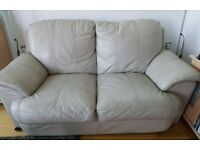 Set of faux leather couches / sofas