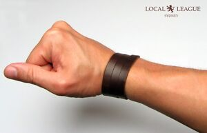SURFER-MENS-BRACELET-WRISTBAND-Adjustable-Multi-Wrap-Cuff-LEATHER-Brown-Black