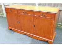 regency style inlaid Light mahogany sideboard