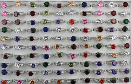 Wedding Engagement Rings Mixed Lots 30pcs Big Cubic Zirconia Women