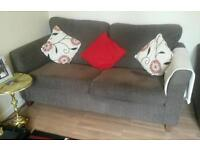 Grey 3seater and 2 seater sofas