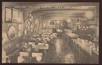 Postcard PORTLAND Oregon/OR  Dan & Louis Oyster Bar Interior view 1920's?