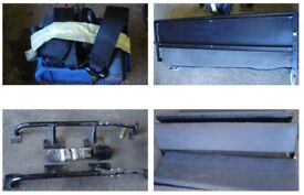 LAND ROVER DEFENDER 110 County Station Wagon REAR SEATS WITH ANCHOR BRACKETS & SEAT BELT STRAPS