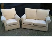 Beautiful Laura Ashley Sofa And Chair Yellow Fabric - Free Delivery In Southampton