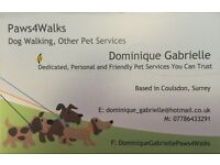 Paws4Walks Surrey, Trustworthy friendly and personal dog walking and pet feeding services