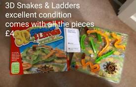 Snakes and Ladders Board Game 3D