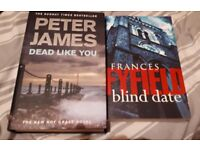 Selectiom of Crime fiction books. 50p each or 150 for £65