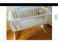 Brand new Mother care swing crib Baby cot
